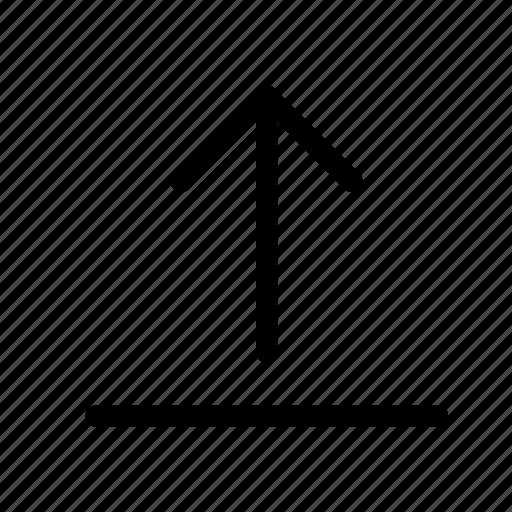 arrow, arrows, cloud, to, top, upload icon