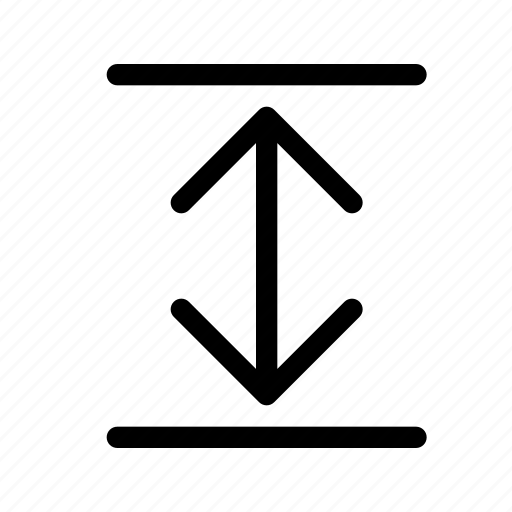 arrows, direction, down, expand, move, up, v icon