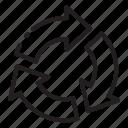 arrow, circle
