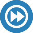 forward, media, music, player, video icon