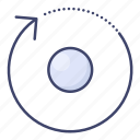arrow, rotate, spin icon