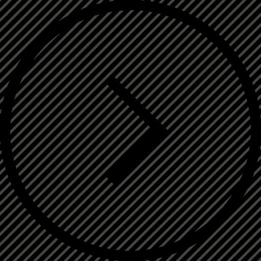 arrow, circle, forward, next, play, right icon
