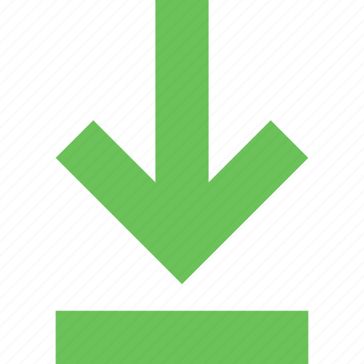 arrow, direction, down, download, guardar, pointer, save icon