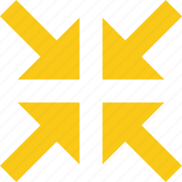 arrow, center, cross, direction, four, pointer icon