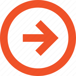 arrow, circle, direction, forward, next, pointer, right icon