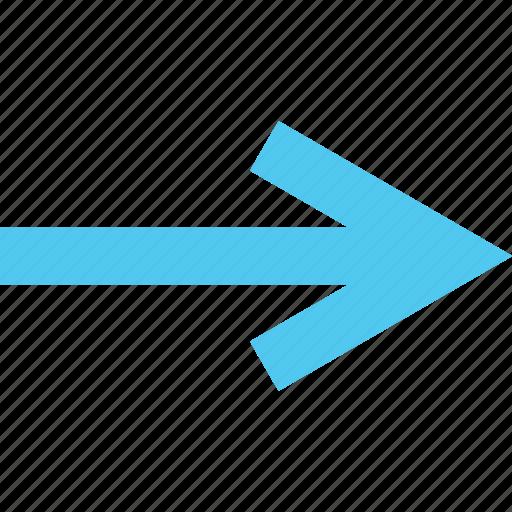 arrow, direction, forward, next, pointer, right icon