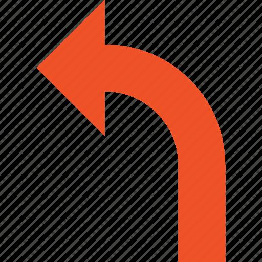 arrow, back, direction, left, previous, return, undo icon