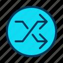 arrow, chance, random, shuffle