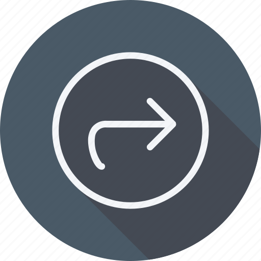 arrow, direction, forward, left, navigation, pointer, sign icon
