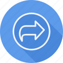 arrow, curve, direction, left, navigation, pointer, sign icon