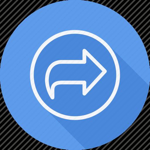 arrow, curve, direction, left, navigation, pointer, sign icon