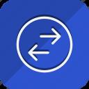 arrow, direction, move, navigation, exchange, left, right