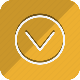 arrow, arrows, chevron, direction, down, move, navigate, navigation icon
