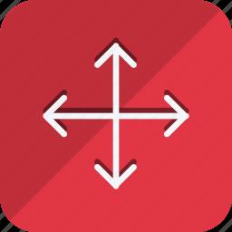 arrow, arrows, crossroads, direction, move, navigate, navigation icon