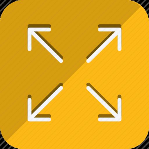 arrow, direction, expand, fullscreen, maximize, move, navigation icon