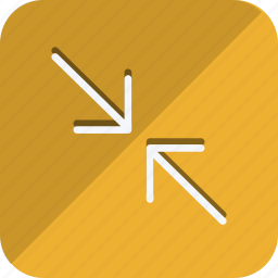 arrow, compress, direction, move, navigation, resize, shrink icon