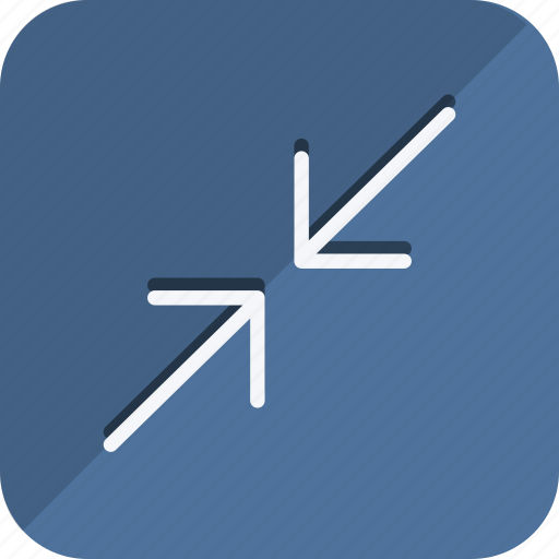 arrows, compress, direction, move, navigation, pointer, shrink icon