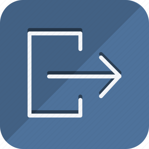 arrow, direction, exit, logout, move, navigation, out icon