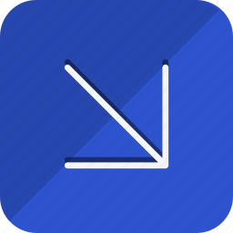 arrow, direction, down, move, navigation, pin, pointer icon