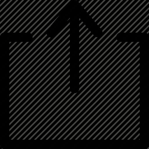 arrow, direction, indicator, interface, navigation, upload, web icon