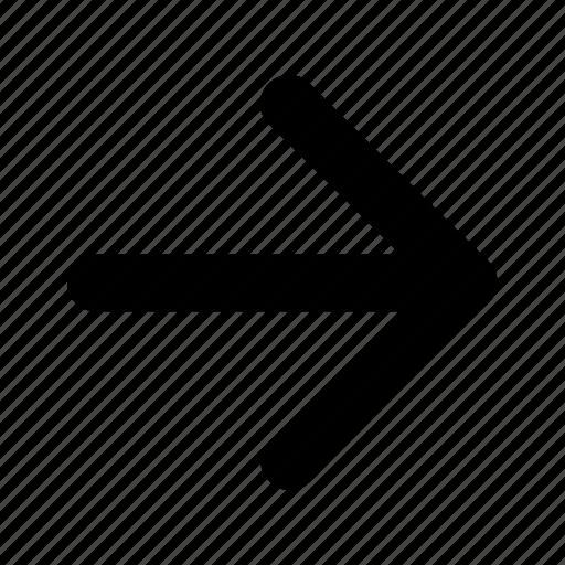 arrow, navigation, panah3 icon