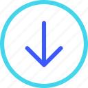 25px, arrow, circle, down, iconspace icon