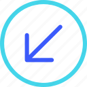 25px, arrow, circle, down, iconspace, left icon