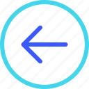 25px, arrow, circle, iconspace, left icon