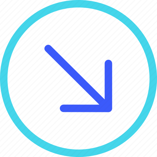 25px, arrow, circle, down, iconspace, right icon
