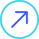25px, arrow, circle, iconspace, right, up icon