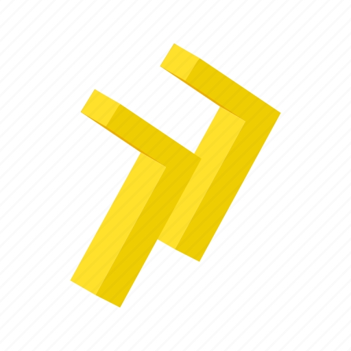 arrow, audio, circle, isometric, music, rewind, yellow icon