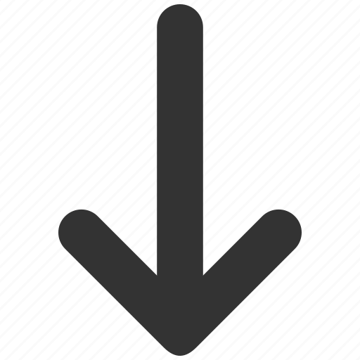 back, direction, down arrow, download, move, navigation, pointer icon