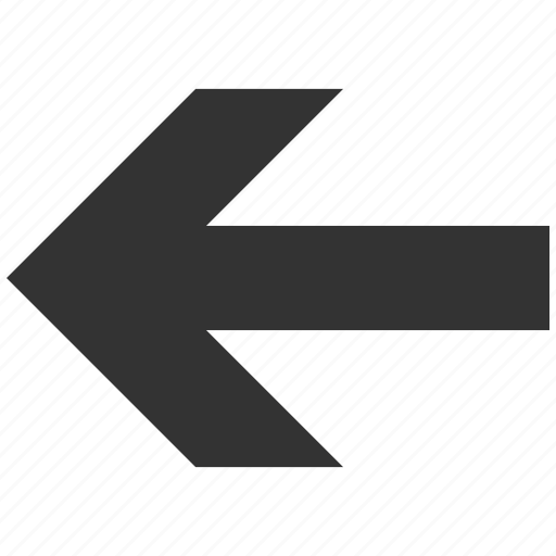 arrow left, back, direction, history, pointer, previous, undo icon