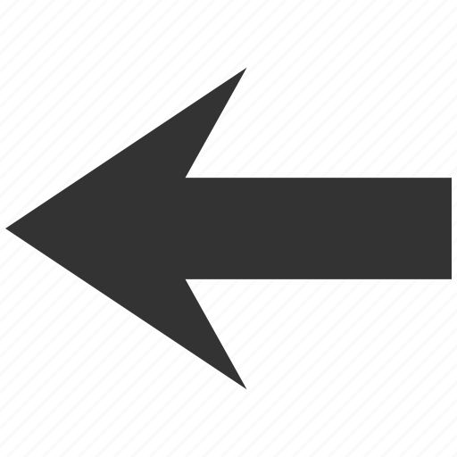 arrow left, back, direction, history, pointer, previous, undo icon