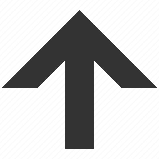 arrow up, direction, forward, move ahead, send, update, upload icon