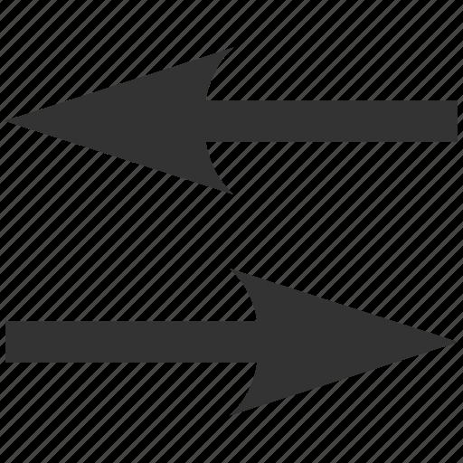 exchange, flip arrows, horizontal, mirror, replace, swap, sync icon