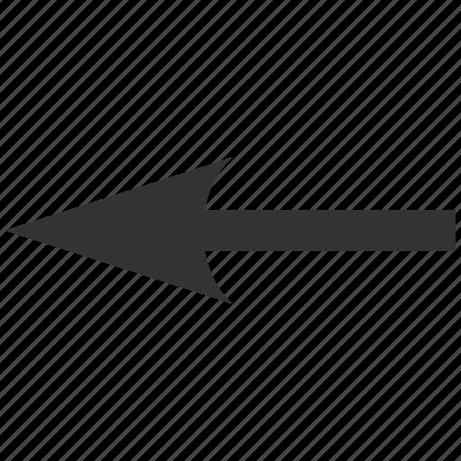 arrow left, back, direction, pointer, previous, sharp, undo icon
