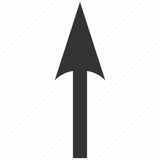 arrow up, direction, forward, move ahead, send, sharp, upload icon