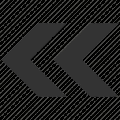 arrow left, direction, navigation, pointer, previous, shift, undo icon