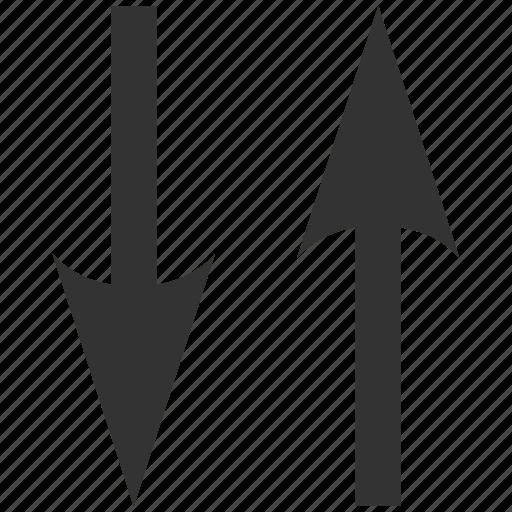 exchange, flip arrows, mirror, replace, swap vertically, sync, vertical icon