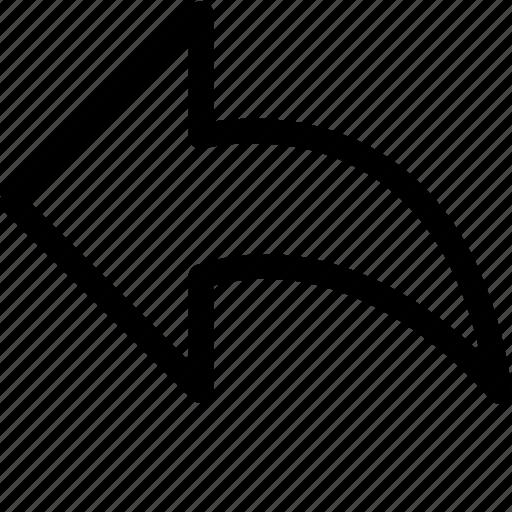 Arrow, arrow left, arrow symbol, arrows, direction, left arrow, navigation icon - Download on Iconfinder