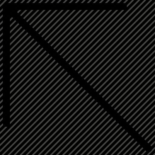 arrow, higher, left, line, top, up, upward icon