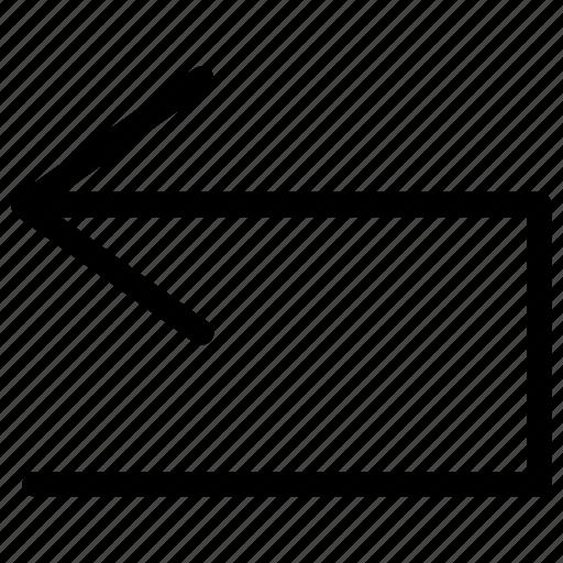arrow, back, backwards, behind, go, move, rear icon