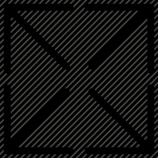 area, arrows, enlarge, fullscreen, maximize, zoom icon