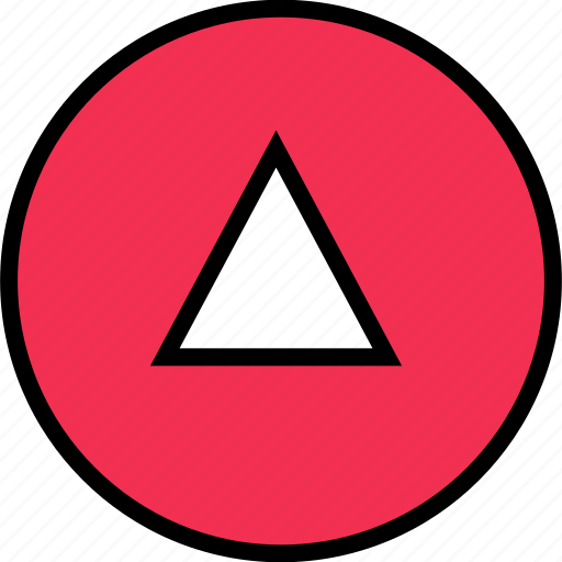 arrow, direction, down, point, triangle icon