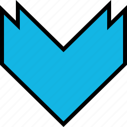 arrow, direction, download, point icon