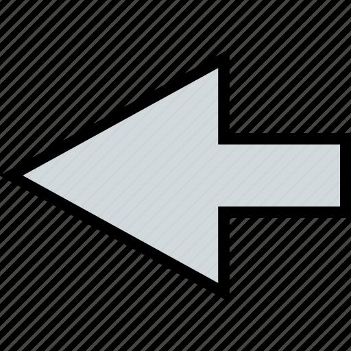 arrow, direction, point, rewind icon