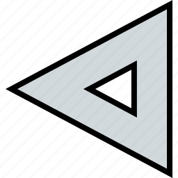 arrow, direction, left, point, triangle icon