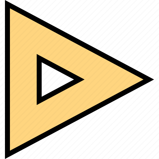 arrow, direction, point, right, triangle icon