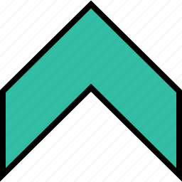 arrow, direction, go, point, up icon